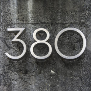House sign from metal